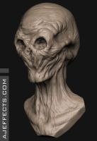 Doctor Who Silence - Zbrush Sculpt by ajeffects