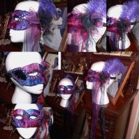 Purple Masquerade Mask by fudgemallow