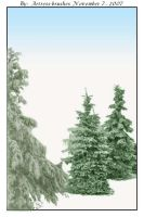 Snowy Trees 1 by ArtressCreativeTools