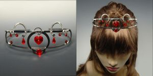 Red heart tiara by YouniquelyChic