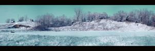 Farmhouse Panorama Snow by tntrekabulator