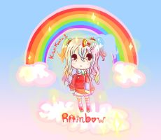Rainbow Girl Chibi by Kiwikoala1