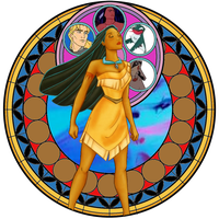 Pocahontas Stain Glass by fangtasia69