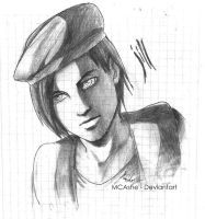 Jill Valentine Draw by MCAshe