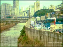 Sao Paulo traffic jam by Sammy-Hux