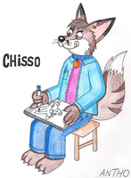 Chisso drawing fennec foxes by AnthoFur