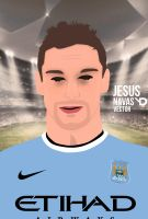 Jesus Navas Vector by bluezest1997