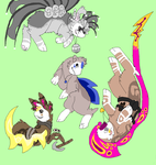 Four Darlings~ (adoptables) by TenebrousKismet