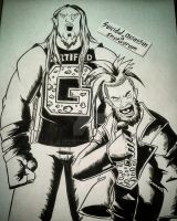 INKTOBER '16 entry 5: Enzo And Cass by suicidalassassin