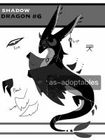 shadow dragon adoptable CLOSED #6 by AS-Adoptables