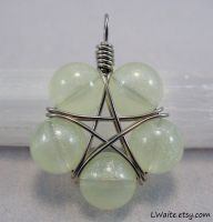 Glow In The Dark Green Star Pendant by LWaite