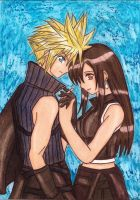 Cloud x Tifa ff7ac version by dagga19 by dagga19