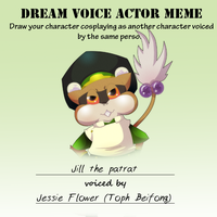 PKMNA - Voice Actor Meme - Jill by TamarinFrog