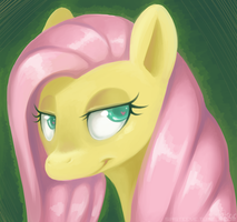 MLP: Fluttershy digital practice by TheKnysh