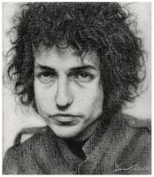 Bob Dylan in Charcoal by dwightyoakamfan