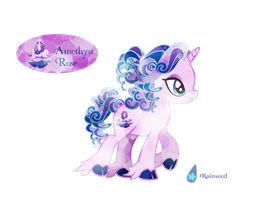 -Closed- Crystal Pony Auction: Amethyst Rose by Rainseed