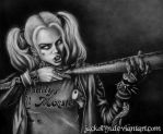 Suicide Squad Harley Quinn: Black and White by Jackolyn