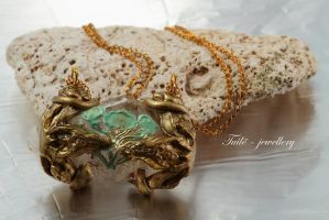 Steampunk Rose by Tuile-jewellery