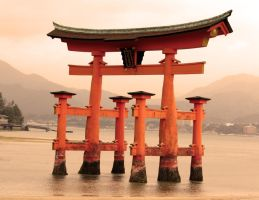 Miyajima Sea Arch, Red Filter by firenze-design