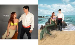 The Little Mermaid BEFORE and AFTER by remydarling