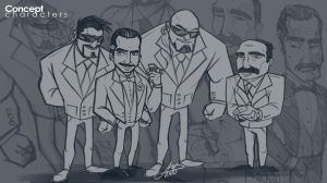 Mafia Concept characters by ShadyDesigns