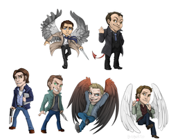 Supernatural Key Chains by Boburto