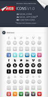 Social Icons, Social App Icons, Function Icons by CheDaFontana