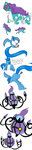 Pokemon Practice - Suicune Articuno Chandelure by MrTwinklehead