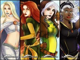 X-Women Bookmarks by ladyarrowsmith
