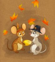 Thanksgiving Mice by autogatos