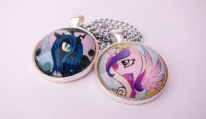 Cadence and Chrysalis Pendant by JPepArt
