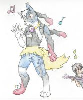 Supre to Mega Lucario transformation by RaiinbowRaven