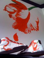 My sneakers infront of my wall by MaceMees