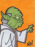 Yoda sketch card by nathanobrien