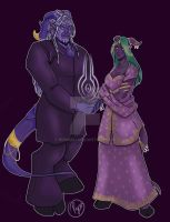 Commission for Avania and Gaan by Rennali