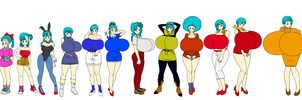 Bulma througth the years by toshis0
