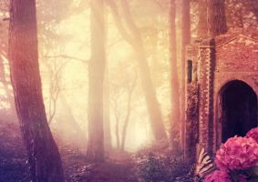 Forest Glow - Premade Background by la-voisin