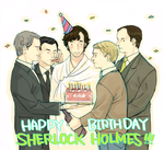 HAPPY BIRTHDAY SHERLOCK by cosom