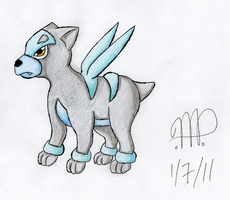 Request: Ice Houndour by kyofanatic1