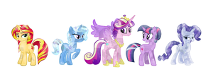 The magical elite of Equestria by 3D4D