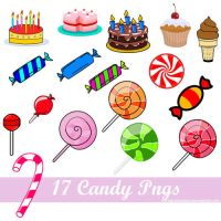 + Pack PNG'S Candy by visualsdesigns