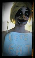 Five Nights at Freddys Chica cosplay makeup by Thesuperninjax