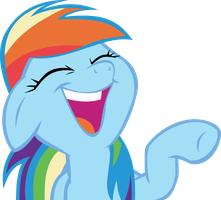 Rainbow Dash laughs by OrbitalVelocity