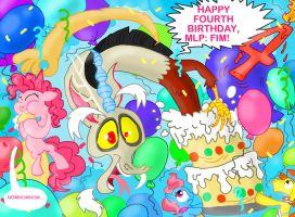 Happy fourth birthday, Friendship is Magic!! by seriousdog