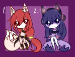 Fox adoptables .:CLOSED:. by stacykaril