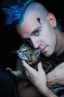 the blu man and the rabbit-cat by carroth