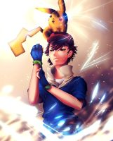 Ash and Pikachu by sukaikun