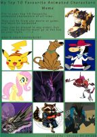 Top 10 Fav. Characters of all time meme by Toothshy11