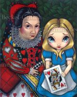 Alice and the Queen of Hearts by jasminetoad