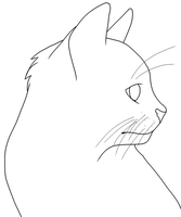 Cat Head Lineart *FREE* by Azielle10